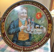 Strohand039s Pre-prohibition Beer Tray 1910 Detroit Mich.