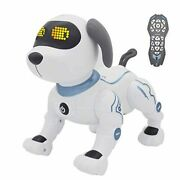 Fisca Remote Control Dog, Rc Robotic Stunt Puppy Toys Handstand Push-up Electron