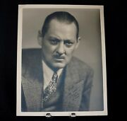 Genuine Lionel Barrymore Rare Large Format Signed Photo To Actor Fred Johnson