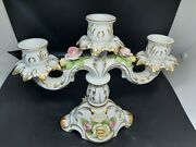Kaiser German Candle Stick Holder In Excellent Vintage Condition 7.75 X 9