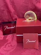 Nib Flawless Exquisite Baccarat France Crystal Nautilus Sea Shell Snail Figurine