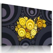 Waves Circles Abstract Modern Print Canvas Wall Art Picture Ab511 Unframed