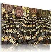 Waves Circles Abstract Modern Print Canvas Wall Art Picture Ab510 Unframed
