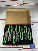 Snap On 7pc Green Vinyl Grip Snap Ring Pliers Set In Tray Srpcr107g