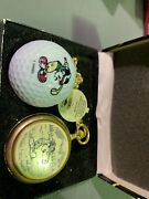Collectors Edition Micky Mouse Pocketwatch And Golf Ball