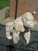 Gorilla Resin Driftwood Wooden Carved Effect Animal Statue Ornament