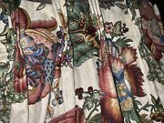 """Schumacher Custom French Country Floral Pinch Pleat Drapes 84""""l Jewel Tones"""
