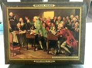 Rare Patrick Henry Beer Metal Toc Sign Tin Over Cardboard Sign Kiley Marion In