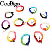 Stretchy Elastic Coil Bracelet Wristband Spiral Coil Key Chain Sports Swimming