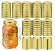 100 Pcs Regular Mouth Canning Jar Lids And Rings Split-type And Leak Proof 100