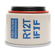 New R12t 120at Npt Zg1/4-19 Fuel Filter / Water Separator Replacement Element