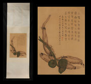 20c Republic Of China Silk Painting Scroll By Ding Fuzhi