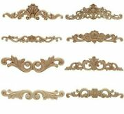 Vintage Style Wood Curving Appliques For Furniture Unpainted Wooden Moldings New