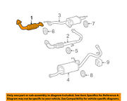 Toyota Oem 03-04 Tundra 4.7l-v8 Exhaust System-front Pipe 174100f030