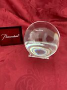 Flawless Stunning Baccarat France Glass Sirius Crystalorb Ball And Pluton Stand
