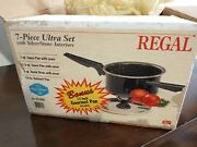 Vintage Regal Ware 7-pieces Ultra Set With Silverstone Interiors Made In Usa