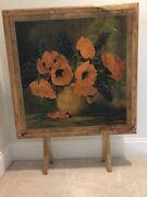Vintage Folding Card Table, Sought After, With Artist's Signature, Gently Used