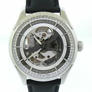 Hamilton Jazzmaster Skeleton Viewmaster 40mm H-20-s Stainless Steel Watch