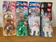 Ty Beanie Babies Mcdonalds International Bears All With Errors - Two Sets Of 4