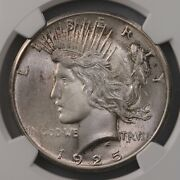 1925 Peace 1 Ngc Certified Ms65 Us Minted Silver Dollar Coin