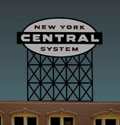 O-scale New York Central Railroad Super Lighted Animated Neon Billboard Sign