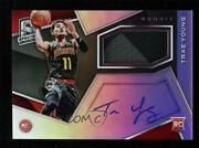 2018-19 Panini Spectra Jersey /299 Trae Young 104 Rookie Auto
