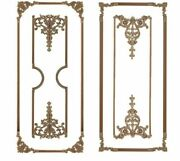 Home Wooden Decal Carving Lines Decorative Indoor Retro Style Woods Material New