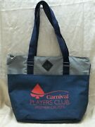 Carnival Cruise Line Player Club Premier Cruises Deluxe Tote Bag W/ Zipper Top