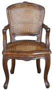 Antique French Walnut Child's Bergere Arm Chair Fauteuil Louis Xvi Cane Doll 25