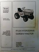Sears Craftsman Ff 24 Lawn Garden Tractor 917.254830 Owner And Parts Manual H.p