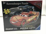 New Ravensburger Disney Cars 3 Dueling Cars Shaped 24-piece Floor Jigsaw Puzzle