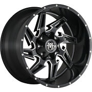 4 New Hardcore Off-road Hc05 Gloss Black Milled 24x12 Chevy Gmc 1500 And F150