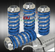 For 96 97 98 99 00 Honda Civic Lx Ex Scaled Coilovers Blue Coil Springs Lowering