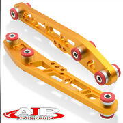 Gold Jdm Rear Aluminum Suspension Lower Control Arms Lca For Integra/civic/crx