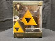 Rare 001 Legend Of Zelda Triforce Light 3d Led Lamp Collectible New In Box