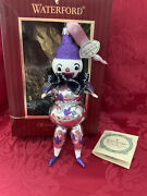 Flawless Exceptional Waterford Glass Pierrot Clown Christmas Ornament