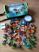 Skylander Giants Swap Force Wii With 30+ Figures Lot With Portal, Cards And Bag