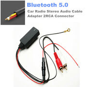 Bluetooth 5.0 Radio Stereo Audio Cable Adapter 2rca Connector Music Aux For Car