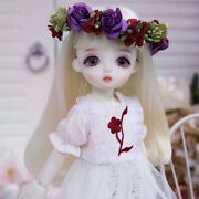 New White Lace Dress Clothes Hair Wig Shoes For 1/6 Bjd Doll Linachouchou Miu J