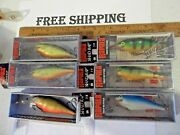 Lot Of 6 Rapala Shad Rap Fishing Lures Sr-7 3 Are Ireland And Finland Baits
