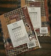 Millsboro Log Cabin Block Border Valance Lined 16x72 Vhc Brands New In Package