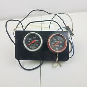 Used Autometer Sport Comp Oil Pressure And Water Temp Temperature Gauge Mechanical