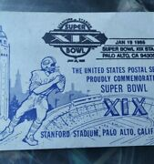 Vintage Nfl Super Bowl Xix Post Cards With Jim Thorpe Usa 20andcent Stamps