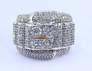 2.00 Ct Natural Diamond Mens Pinky Ring Solid White Gold See Video