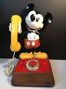 Vtg 1976 American Telecommunications Disney Mickey Mouse Phone Rotary Dial Cd21andnbsp