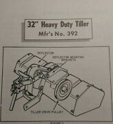 Simplicity Riding Garden Tractor 32 Tiller Implement Owner And Parts Manual 392