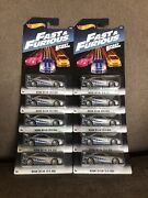 2017 Hot Wheels Fast And Furious Nissan Skyline Gt-r R34 Lot Of 10 Mint On Card