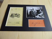 Henry Ford Tractor Patent Print Mounted Photographs And Preprint Autograph