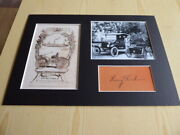 Henry Ford New Ex Libris Book Plate Mounted Photographs And Preprint Autograph