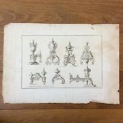 Engraving Antique Furniture André Charles Boulle Cabinetmaker The King Louis Xiv